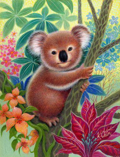 Коала, коала, медвежата