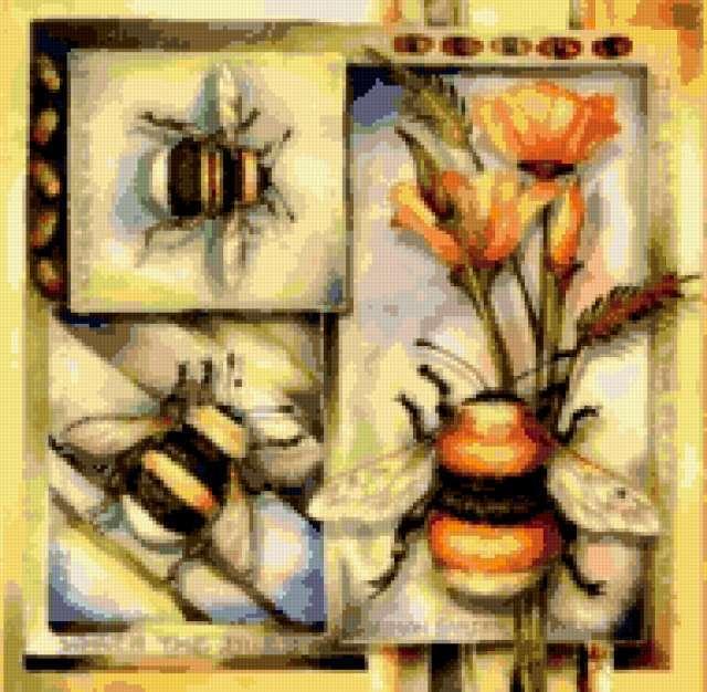 Пчелы и маки, предпросмотр