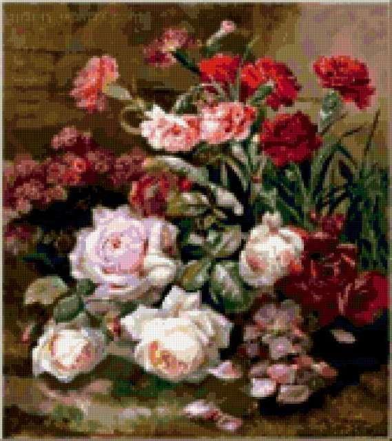 Розы и гвоздики, предпросмотр