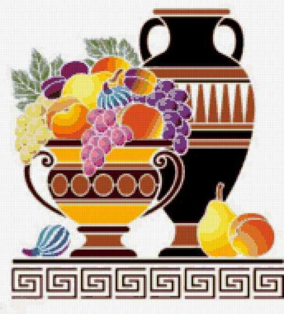 Греческая ваза с фруктами,