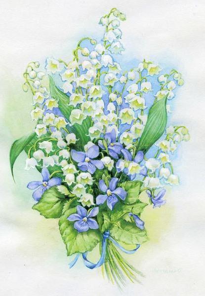 Букет ландышей, цветы, букет,