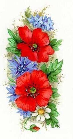 Летние цветы Панно, цветы,