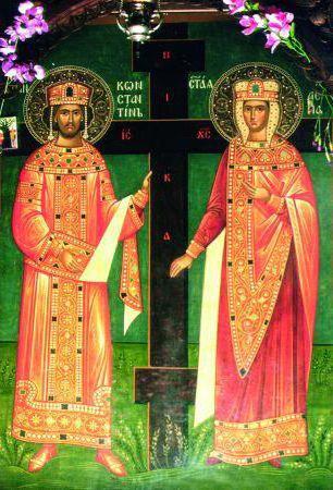 Икона Константин и Елена,