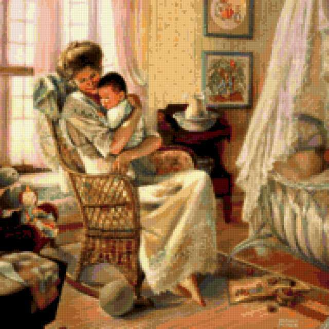 Счастливое детство, живопись