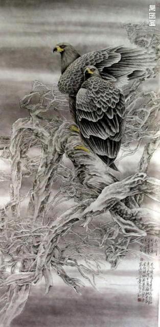 Орлы, птицы, графика, живопись