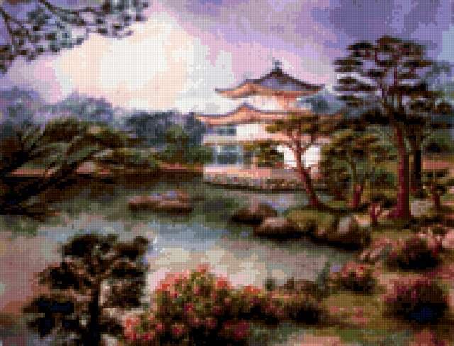 Японский пейзаж, предпросмотр