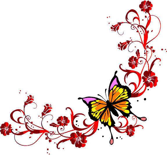 Бабочка, бабочка, цветы
