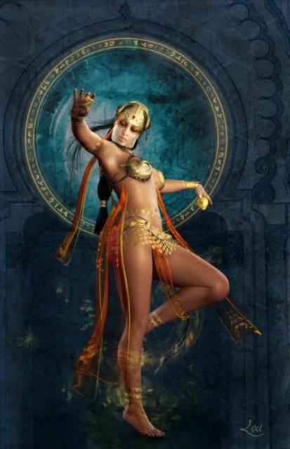 Восточная танцовщица, живопись