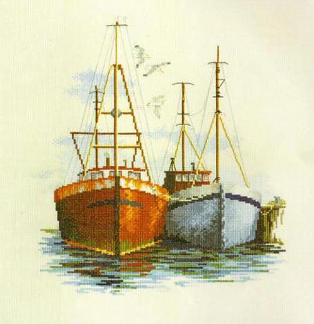 Лодки у причала, море, лодка