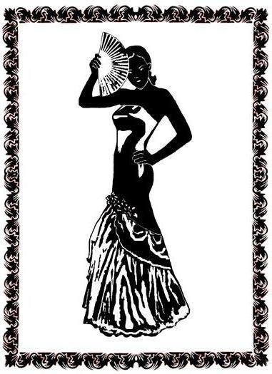 Кармен, девушка, танец, черное