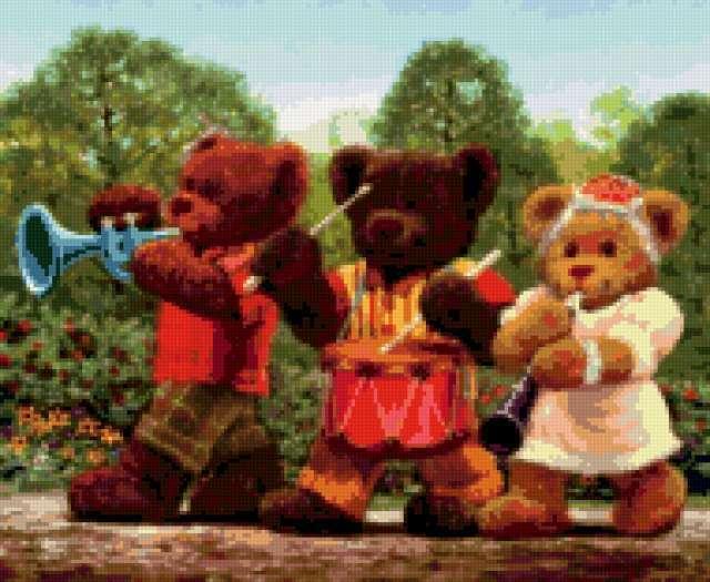К схеме вышивки «Три медведя»