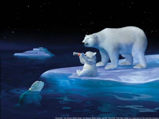 Белые медведи, животные