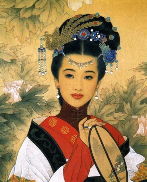 Портрет китаянки, живопись