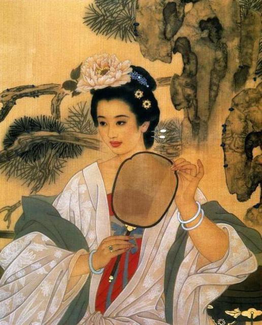 Китаянка, картина, китай