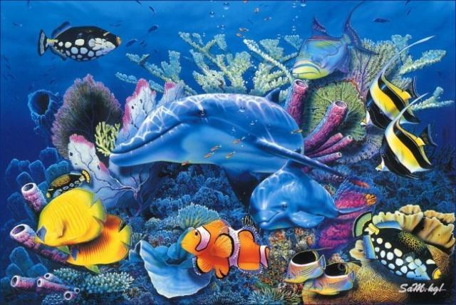 ПОДВОДНЫЙ МИР, море, рыбы,