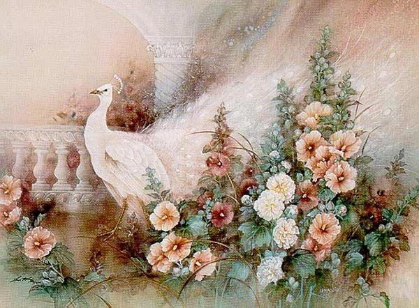 ПАВЛИН, павлин, цветы