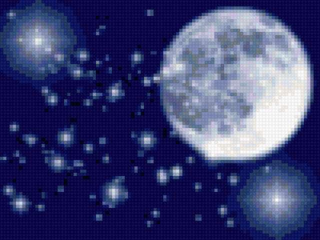 луна и звёзды, предпросмотр