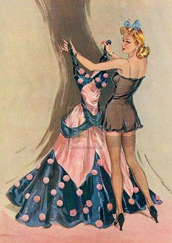 девушка меряет платье-аи3