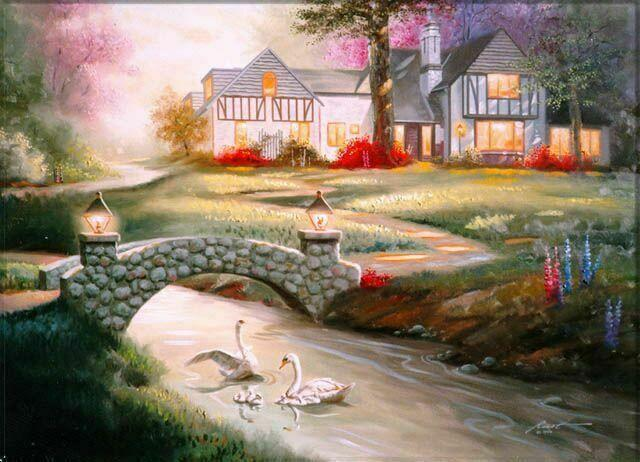 Усадьба, природа, пейзаж, река