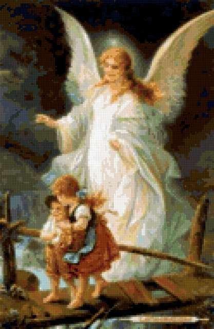 Ангел-хранитель, живопись