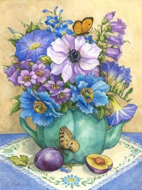 Летние цветы, оригинал