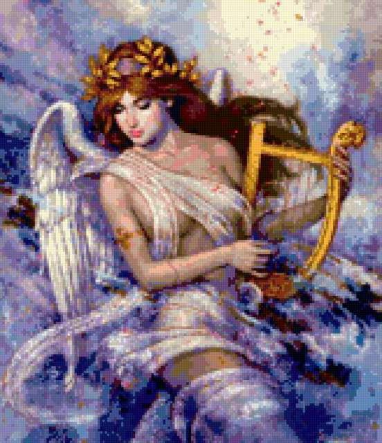 Ангел с арфой 2, предпросмотр