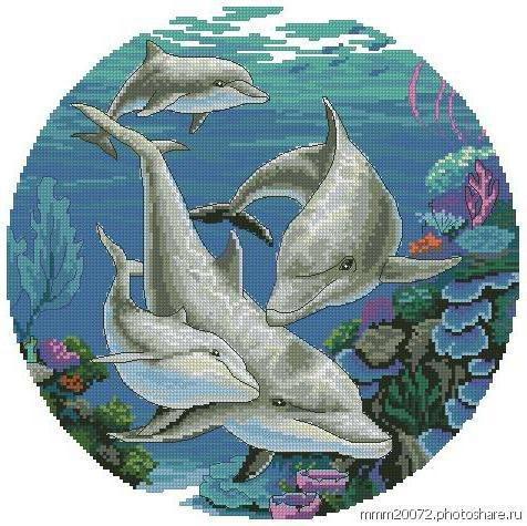 Дельфин, картина, подушка
