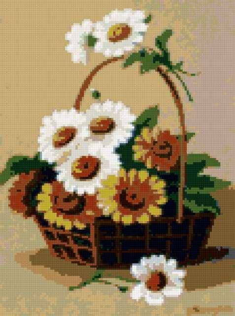 Корзина с цветами, корзина,