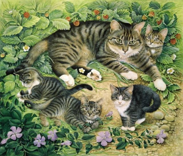 Кошачья семья, оригинал