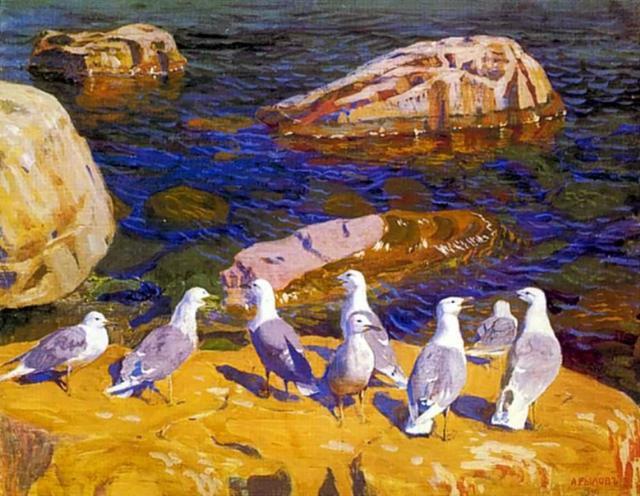 Чайки на берегу, оригинал