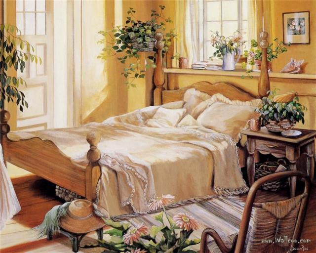 Спальня, садовое