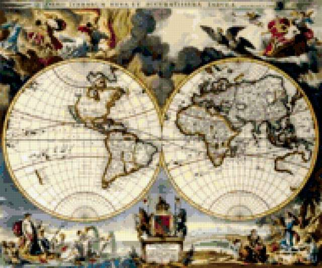 Старая карта, карта