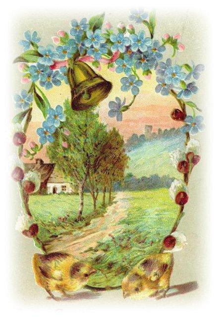 Пасхальные открытки, оригинал