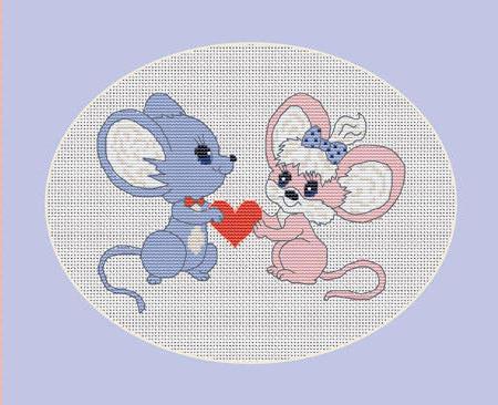 вышивка для детей мышата,