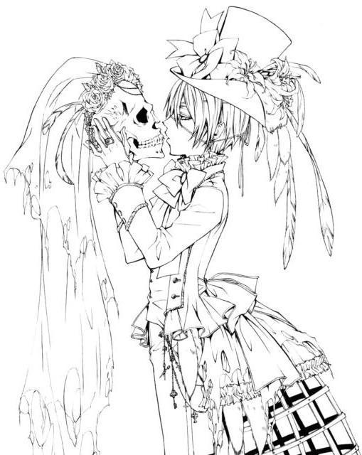 Сиэль и череп, оригинал