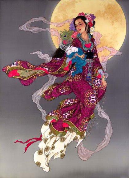 Китаянка 22, живопись