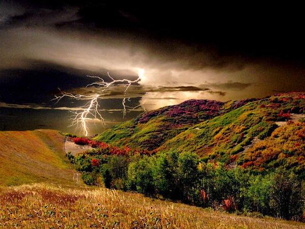 Пейзаж гроза, пейзаж, природа,