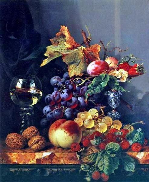 Натюрморт с фруктами, картина,