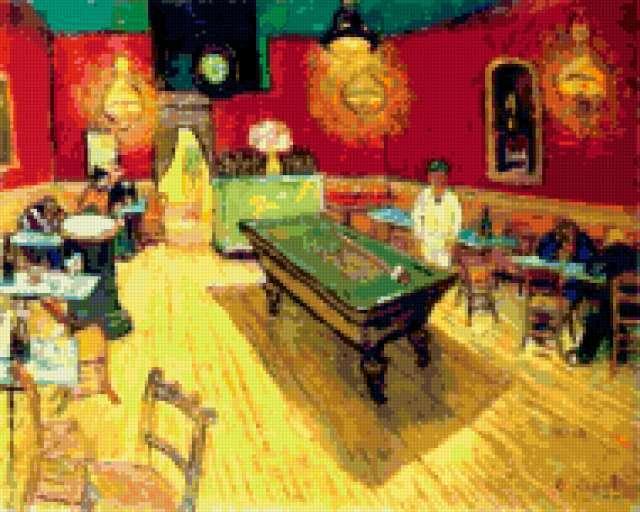 Van Gogh , бильярд, спорт,