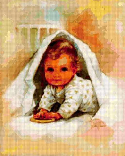 Малыш под одеялом, малыш,