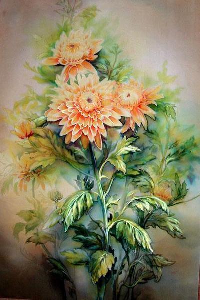 К схеме вышивки «Хризантемы»