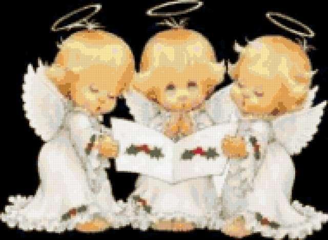 Три ангелочка , ангел, дети