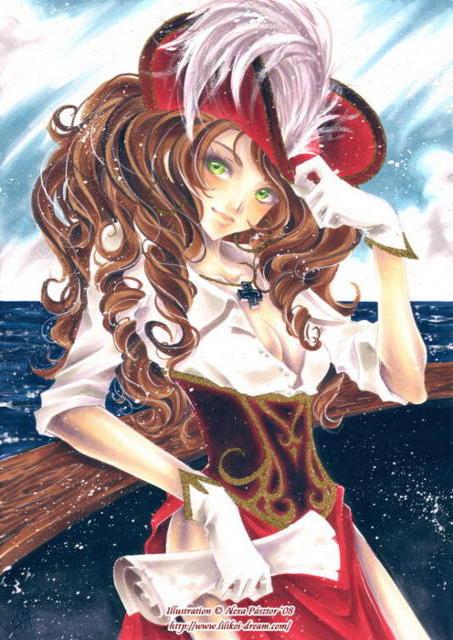 девушка, море, корабль