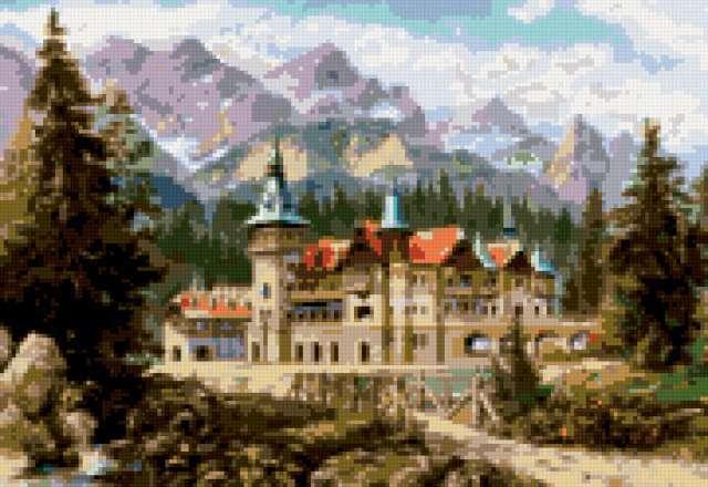 Замок в горах, предпросмотр
