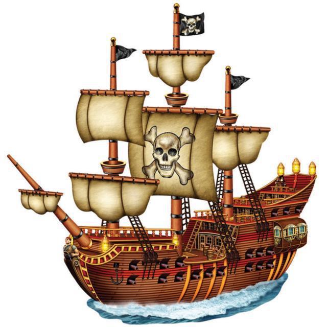 Пиратский корабль, подушка
