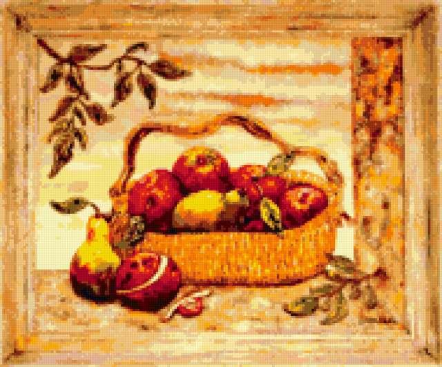 Схема вышивки крестом груша