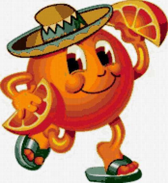 """Подушка """"танец апельсина"""""""