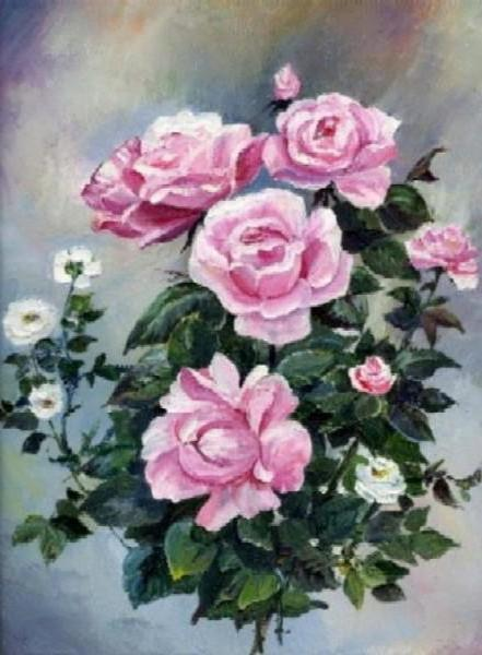 Розовые розы, оригинал