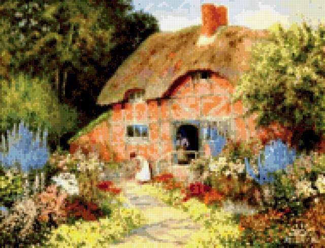 Дом в саду, предпросмотр