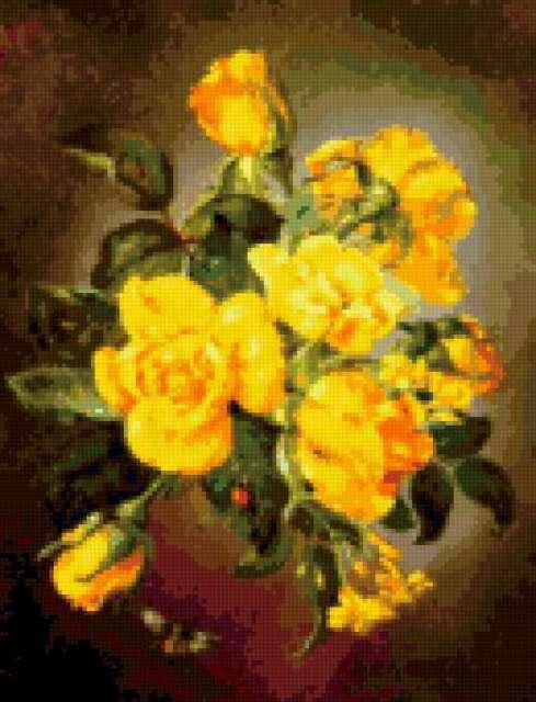 К схеме вышивки «Желтые цветы»